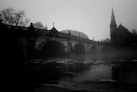 The English Bridge, Shrewsbury by Matt Sillence