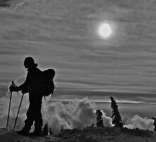 Mountaintop Silhouette  by Thomas Tatchell