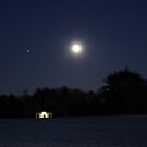 "Moon over Waveny by Christine ""Xine"" Segalas"