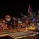 Melbourne city lights by Helenvandy