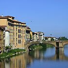 Crossing the Arno - Florence by Steve Madsen