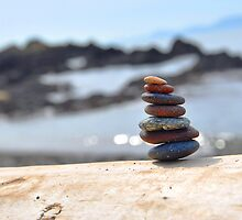 Rock Tower at The Beach by Emilie Trammell
