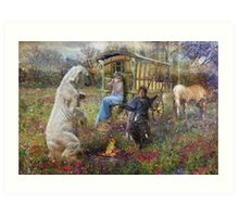 Dance of The Brakenwood Gypsies Art Print