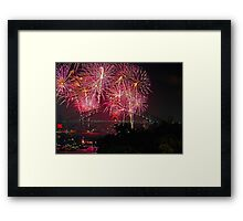 Sydney #2 | New Years Eve 2010 | Fireworks 9pm Framed Print