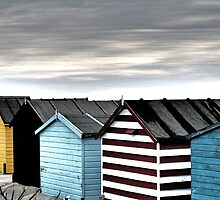 Beach Huts in Winter by James Price