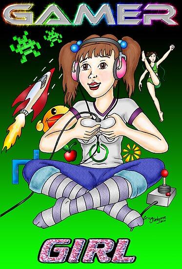 Gamer Girl by DarkRubyMoon