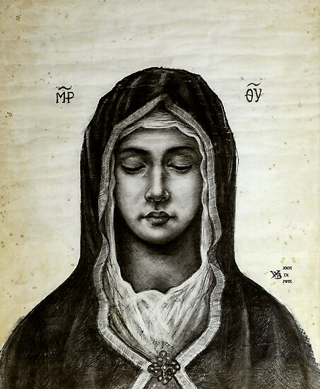 Theotokos - Mother of God by Wieslaw Borkowski