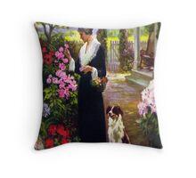Grandmother's Garden Throw Pillow