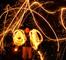 Light Painter Ringing in the New Year by designerbecky