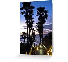 leucadia sunset 2 Greeting Card