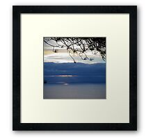 torrey sunset Framed Print