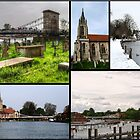 A collage of All Saints Marlow by Chris Day