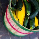Bushel of Zucchini by Chris Pultz