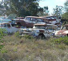 Peak Hill car wrecks - pile up by DashTravels