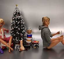 Ken was not entirely impressed with the gifts left by Santa to stuff Barbies stocking... by Sniperphotog