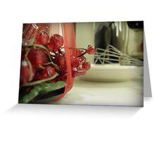 Kitchen at Christmas Greeting Card