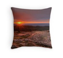 Sunrise from Cadillac Mountain Throw Pillow