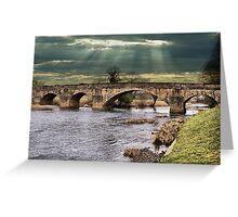 Edisford Bridge, Clitheroe, Lancs, UK. Greeting Card