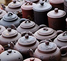 Tea pots... by Rene Fuller