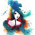 Ode to Blue - Woman in Abstract by paperheroes