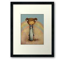 kokeshi rainbow Framed Print