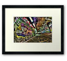 Graffiti Tunnel, London Framed Print