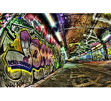Graffiti Tunnel, London Photographic Print