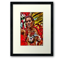 Notting Hill Carnival, Brazilian Dancer Framed Print