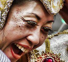 Notting Hill Carnival, dancer's face by Guy Carpenter