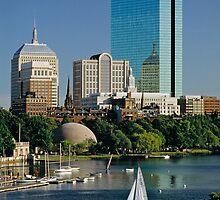 Boston & The Hancock, USA, 1993. by David A. L. Davies