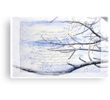 Cold-poem Canvas Print