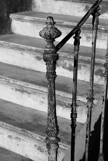 Stair and Bannister Capestang France by Paul Pasco