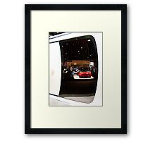 Reflections of the La Auto Show Framed Print