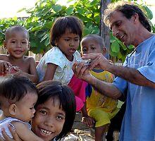 Children, Mabul Island, Borneo by suellewellyn
