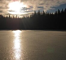 Sunrise over Twin Lakes by Christopher Clark