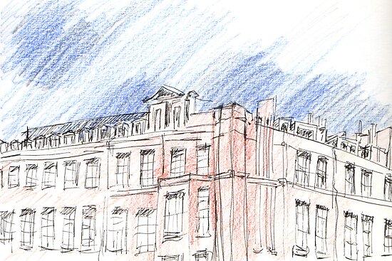 Red Objects in London series by Artistuk