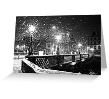 Winter in Dublin Greeting Card