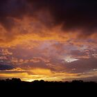 Sunset just before a lightning storm by burrster