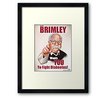 Wilford Brimley Propaganda poster Framed Print