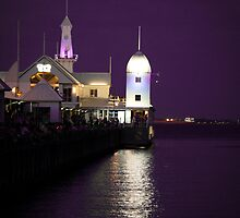 Cunningham Pier In Purple by Sophie Lapsley