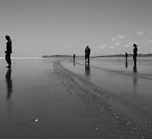 Silhouettes on the Sand by MichaelJP