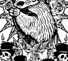 Groundhog Day of the Dead Sticker