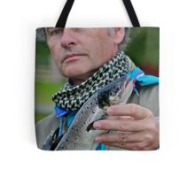 That's me! fishing for Atlantic salmon in Namsen River in Norway . by Brown Sugar. F* Views (539) favorited by (4) thank you a bunch !!!) Tote Bag