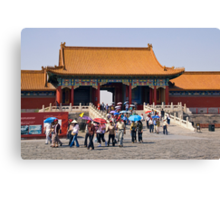 Beijing: Touring the Forbidden City Canvas Print