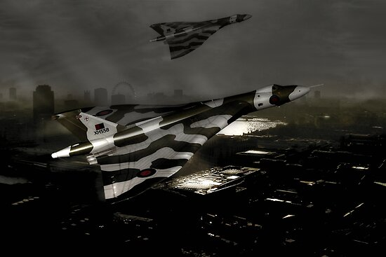 Vulcans over London by Bob Martin