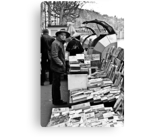 Book sellers on the Rhone Canvas Print
