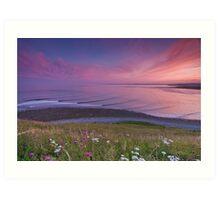 Sunset Surf at Lawrencetown Beach Art Print