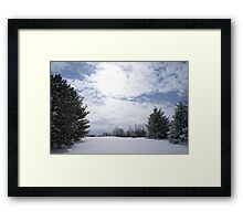snow blind in indiana Framed Print