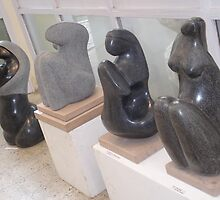 Black Marble sculptures- Mother  by kumudmohinder