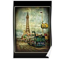 Blackpool Promenade and Tram. Poster